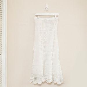 Boston Proper Boho Style Crochet Maxi Skirt S